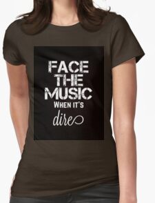 Marianas Trench Face The Music Black Womens Fitted T-Shirt
