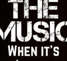 Marianas Trench Face The Music Black Sticker