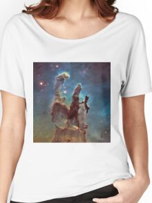Pillars of Creation Eagle Nebula Messier 16 M16 NGC 6611 Women's Relaxed Fit T-Shirt