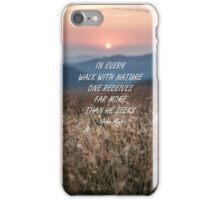 Walk with nature 5 iPhone Case/Skin