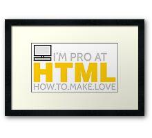 HTML PROGRAMMER Framed Print