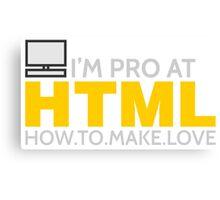 HTML PROGRAMMER Canvas Print