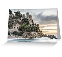 D'en Plaja Castle (Lloret de Mar, Catalonia) Greeting Card