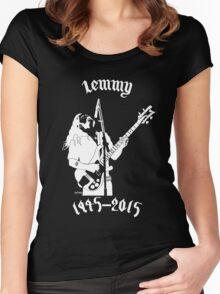 """RIP Ian """"Lemmy"""" Kilmister (Motorhead) Women's Fitted Scoop T-Shirt"""
