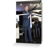 Hugh Bonneville British actor opens the Sunseeker stand ... Greeting Card