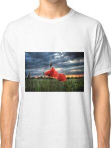 Poppies in the Rain Classic T-Shirt