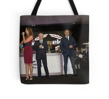 Hugh Bonneville British actor opens the Sunseeker stand ... Tote Bag