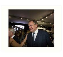 Hugh Bonneville British actor from Downton Abbey  Art Print