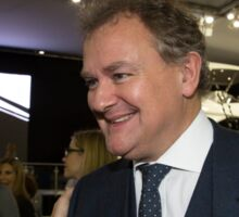 Hugh Bonneville British actor from Downton Abbey  Sticker
