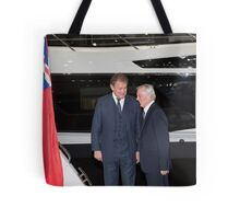 Hugh Bonneville British actor  from Downton Abbey  Tote Bag