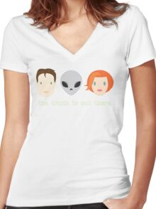 The Truth is Out There. Women's Fitted V-Neck T-Shirt