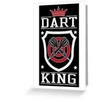 Dart King Greeting Card