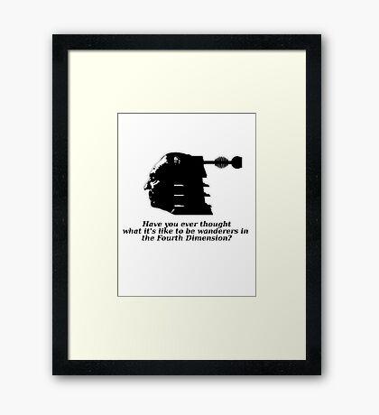 Doctor #1 (Doctor Who) Framed Print