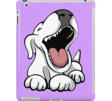 Laughing Bull Terrier iPad Case/Skin