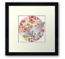 Paper bird Framed Print