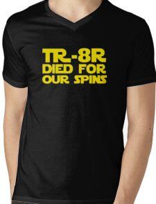'TR-8R Died For Our Spins' Star Wars Meme Print Mens V-Neck T-Shirt