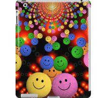 Bright colourful smiley emojis iPad Case/Skin