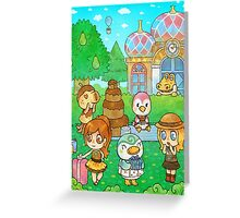 Animal Crossing Characters Greeting Card
