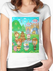 Animal Crossing Characters Women's Fitted Scoop T-Shirt