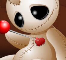 Voodoo Doll Cartoon in Love Sticker