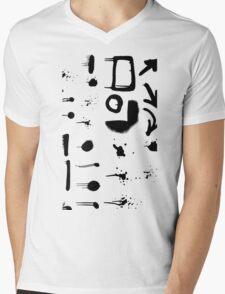 Modern Splatter Paint Strokes Mens V-Neck T-Shirt