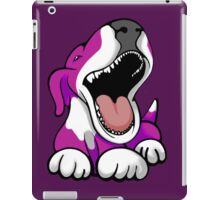 Laughing Bull Terrier White & Pink iPad Case/Skin