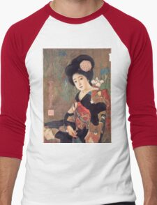 Vintage poster - Sakura Beer Men's Baseball ¾ T-Shirt