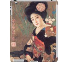 Vintage poster - Sakura Beer iPad Case/Skin
