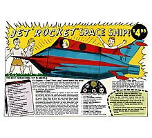 Jet Rocket Space Ship Comic Book Ad Photographic Print
