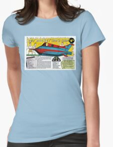 Jet Rocket Space Ship Comic Book Ad Womens Fitted T-Shirt