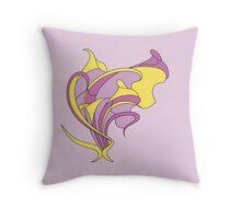 Butterfly swirl, modern art nouveau gold fuchsia purple Throw Pillow