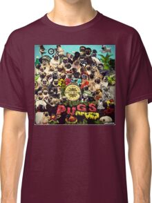 SGT PUGS LONELY HEARTS PUG BAND Classic T-Shirt