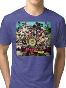 SGT PUGS LONELY HEARTS PUG BAND Tri-blend T-Shirt