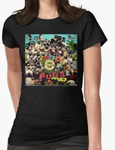 SGT PUGS LONELY HEARTS PUG BAND Womens Fitted T-Shirt