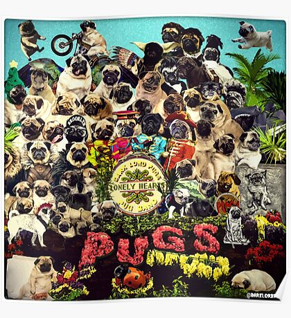 SGT PUGS LONELY HEARTS PUG BAND Poster