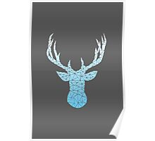 Stag - Black Poster