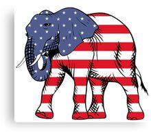 Patriotic elephant Canvas Print
