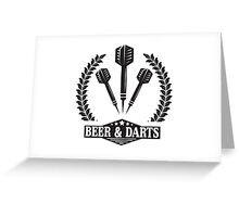 Beer & Darts Greeting Card