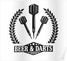 Beer & Darts Poster