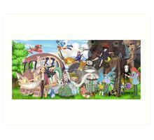 Manga Ghibli Totoro Art Print