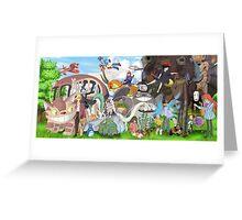 Manga Ghibli Totoro Greeting Card