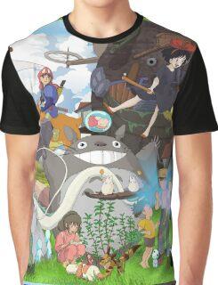 Manga Ghibli Totoro Graphic T-Shirt