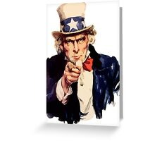 Uncle sam i want you watercolor Greeting Card