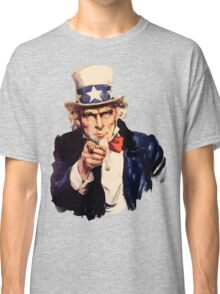Uncle sam i want you watercolor Classic T-Shirt