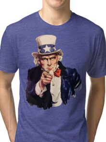 Uncle sam i want you watercolor Tri-blend T-Shirt