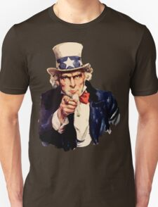 Uncle sam i want you watercolor T-Shirt