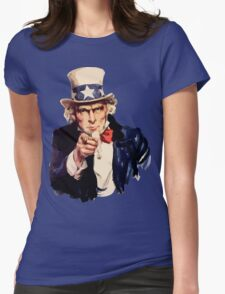 Uncle sam i want you watercolor Womens Fitted T-Shirt