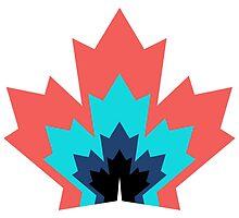 Canada Leaf Multicoloured Pattern  by HenryCDavies