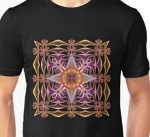 Fractal Web in Purple Unisex T-Shirt
