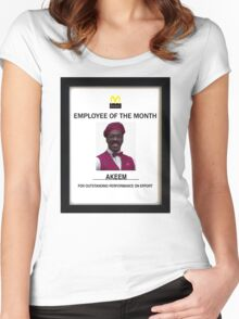 Employee of the month Women's Fitted Scoop T-Shirt